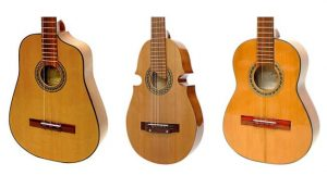 "Cuban ""tres"", Puerto Rican ""cuatro"", and Colombian ""tiple""."