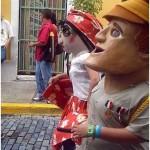 Cabezudos in Calle San Sebastian