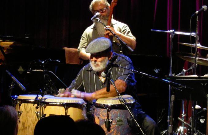 Poncho Sanchez playing Latin Jazz congas