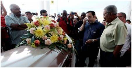 Paleco at his funeral in Puerto Rico