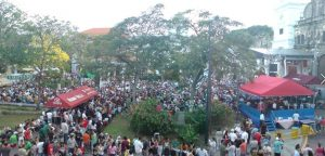 Crowds at the Panama Jazz Fest.