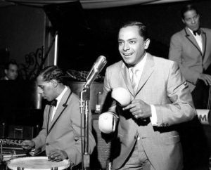 Puerto Rican Tito Rodriguez playing maracas