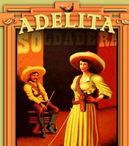 Ranchera star Adelita in Mexican poster