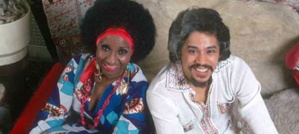 Salsa music legends Celia Cruz and Johnny Pacheco.
