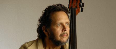 "Latin music bassist Eddie ""Guagua"" Rivera with bass."
