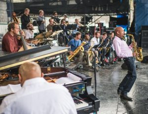 Jazz saxophonist Miguel Zenon with his quartet and big band.