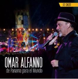 Panamanian singer songwriter Omar Alfanno on Salsa album cover