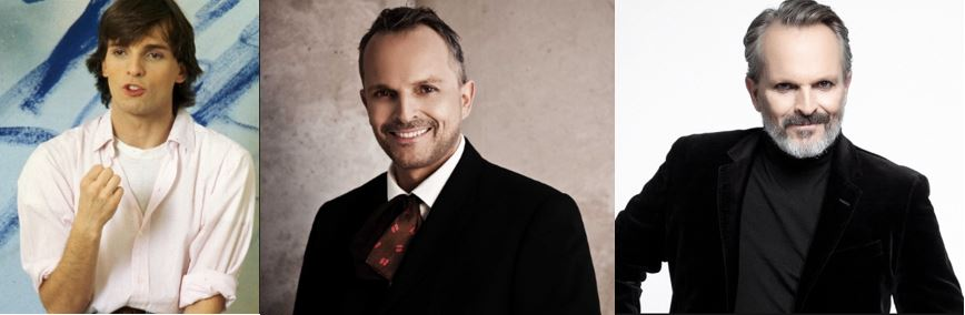 Miguel Bosé through the years