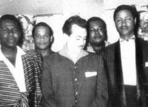 Rafael Cortijo and Ismael Rivera with Beny Moré.