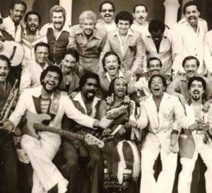 Salvador Cuevas with the Fania All Stars