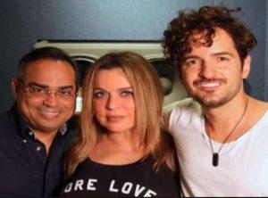 Puerto Rico singers Gilberto Santa Rosa, Ednita Nazario and Tommy Torres